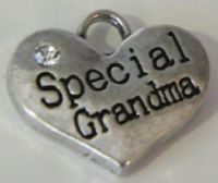 Special Grandma Personalised Wine Glass Charm - Full Sparkle Style